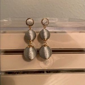 Baublebar Hanging grey and gold bulb earrings